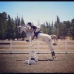 Chloe Jump Schooling at home in Hollister, CA