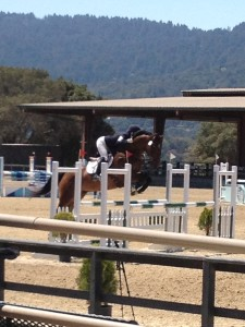 Rockefeller jumping double clean in the open prelim.