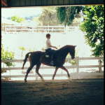 Kaitlin riding Kedrah